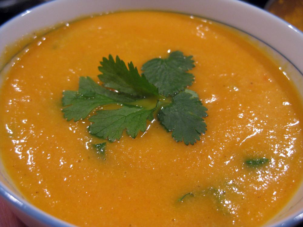 Carrot & Coriander Root Soup Recipe — Dishmaps
