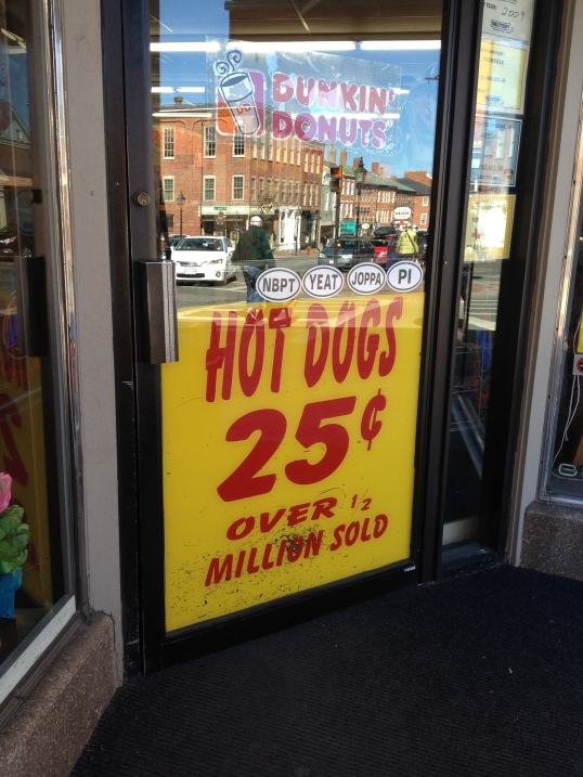 Hot Dogs - 25 cents